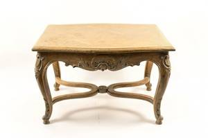Petite Louis XV Style Bleached Oak Side Table