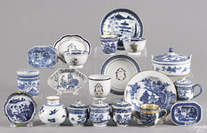 Chinese export blue and white porcelain wares 18th19th c