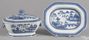 Chinese export porcelain Canton tureen and undertray 19th c