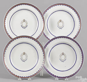 Set of four Chinese export porcelain shallow bowls ca 1800