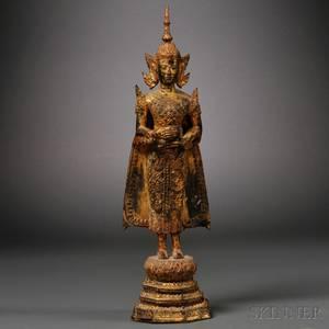Giltbronze Standing Buddha