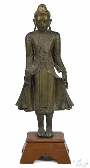 Chinese bronze Buddha 19th c