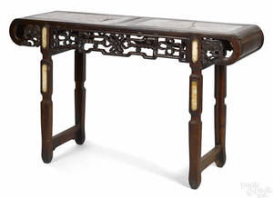 Chinese hardwood altar table late 19th c