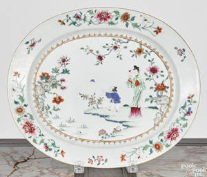 Chinese famille rose porcelain platter late 18th c