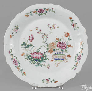 Chinese famille rose porcelain charger 18th c