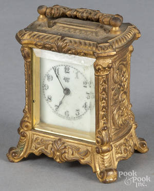 Waterbury brass carriage clock