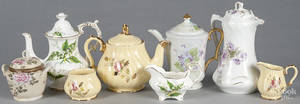 Porcelain tea wares