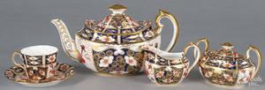 Royal Crown Derby porcelain tea service teapot