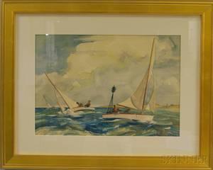 Yngve Edward Soderberg American 18961971 Racing off Edgartown
