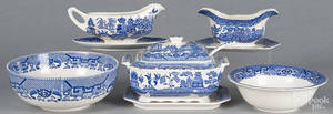 Blue Willow tureen and undertray