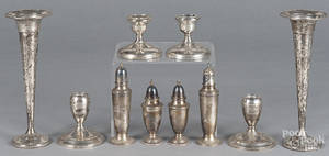 Weighted sterling silver candlesticks