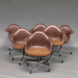 Six Eames for Herman Miller PACC Chairs