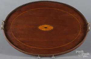 Hepplewhite style mahogany tray