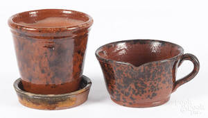 Two pieces of Pennsylvania redware