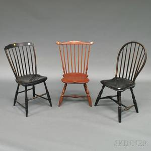 Three Assorted Painted Windsor Side Chairs