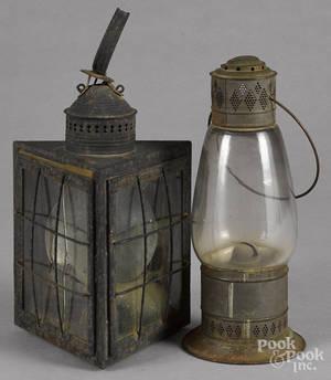Tin carry lantern