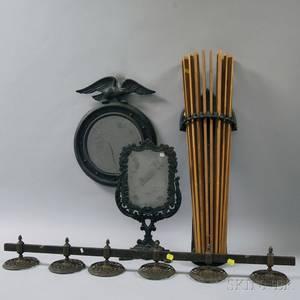 Four Cast Iron Items