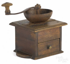 Walnut coffee mill