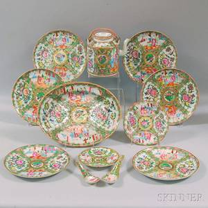 Group of Rose Medallion Chinese Export Porcelain