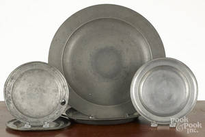 Five pieces of English pewter