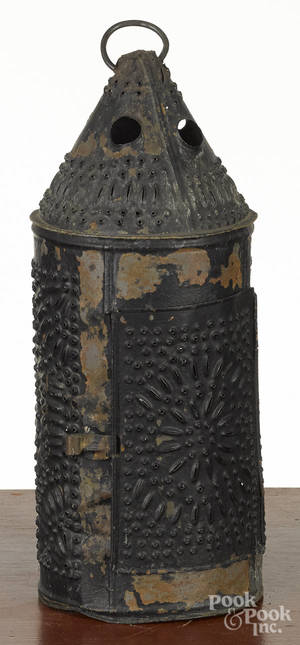 Pennsylvania punched tin lantern