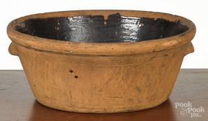 Large Pennsylvania redware bowl