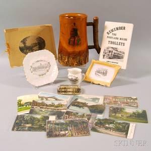Collection of Portland Maine Memorabilia Including Riverton Park Items