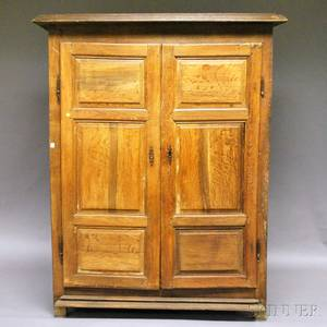 Paneled Oak Twodoor Armoire