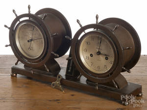Waterbury Clock Co Commodore brass ship clock