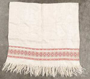 Centennial needlework show towel
