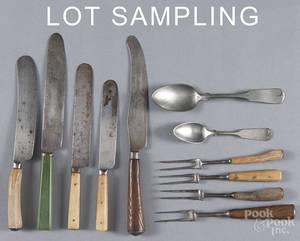 Walnut utensil tray