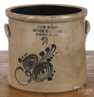 New York stoneware crock