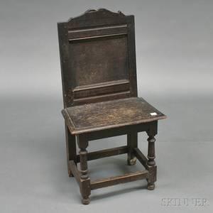 Pilgrim Century Carved Oak Side Chair