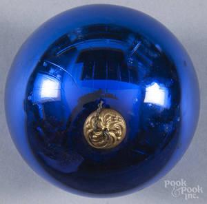 Blue kugel ornament