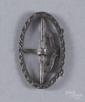 Silver shoe buckle