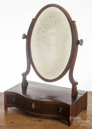 Regency mahogany shaving mirror