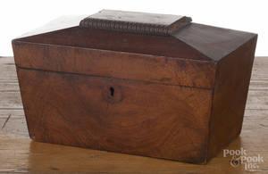 Regency mahogany tea caddy