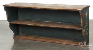 Scandinavian painted pine hanging shelf