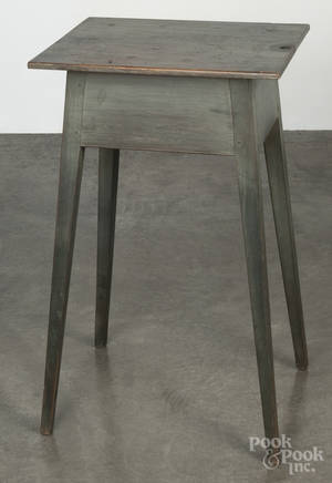Contemporary painted pine splay leg stand