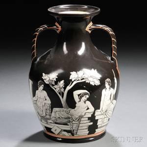 Samuel Alcock Transferprinted Porcelain Portland Vase