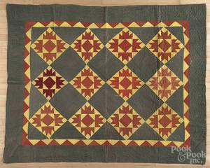 Pennsylvania bear paw variant patchwork quilt