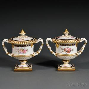 Pair of Porcelain Fruit Coolers