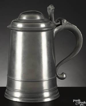 Philadelphia pewter tankard ca 1780