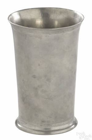 Hartford Connecticut pewter beaker ca 1805