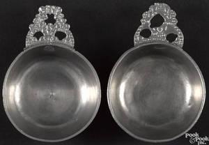 Meriden Connecticut pewter porringer or taster ca 1845