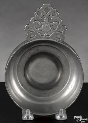 Providence Rhode Island pewter porringer ca 1830