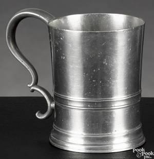 New York pewter mug ca 1830