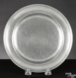 Baltimore pewter deep dish and plate ca 1810
