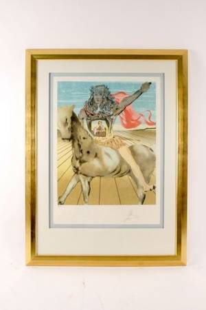 Dali Chevalier Surrealiste Lithograph Signed