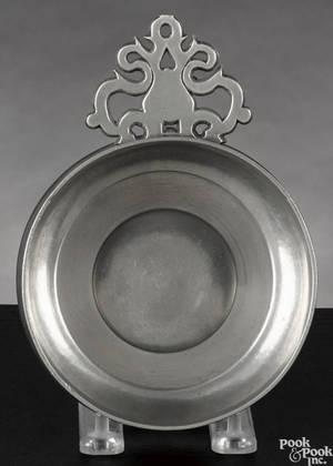 New York pewter porringer ca 1780